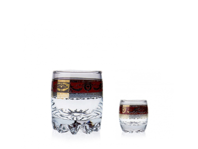 Série sklenic Bordó
