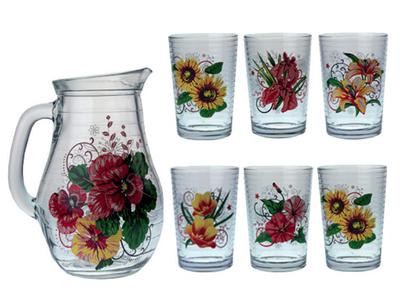 Květiny 911 – sada sklenic se džbánem