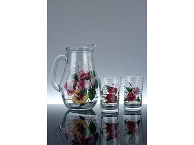 Květiny – sada sklenic se džbánem