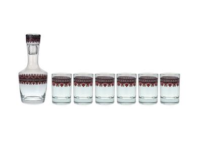 Vyšívanka 936 – sada sklenic s karafou